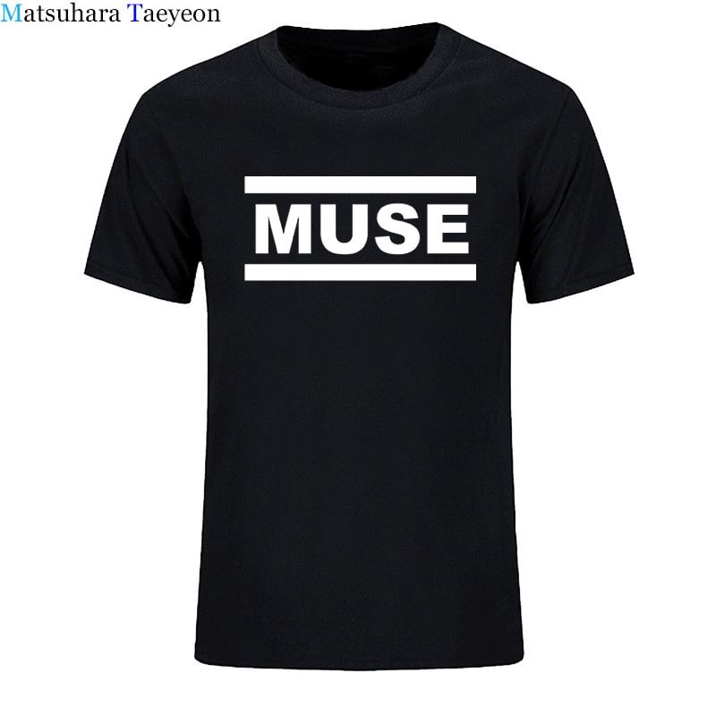 [해외]/Muse t shirts Men muse t shirt Summer Short Sleeve Cotton o-neck  t shirts Tops Rock Band T-Shirts casual clothing