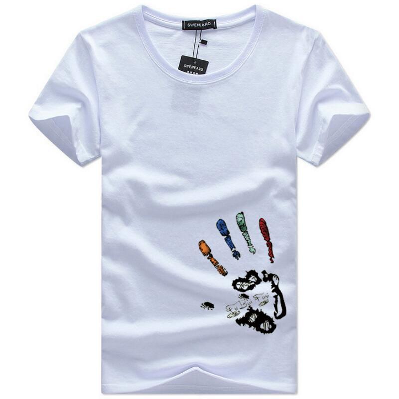 [해외]SWENEARO Men`s T-Shirts Plus Size 5XL Tee Shirt Men Summer Short Sleeve Print funny T-Shirt Male TShirts Camiseta Tshirt Homme/SWENEARO Men`s T-Sh