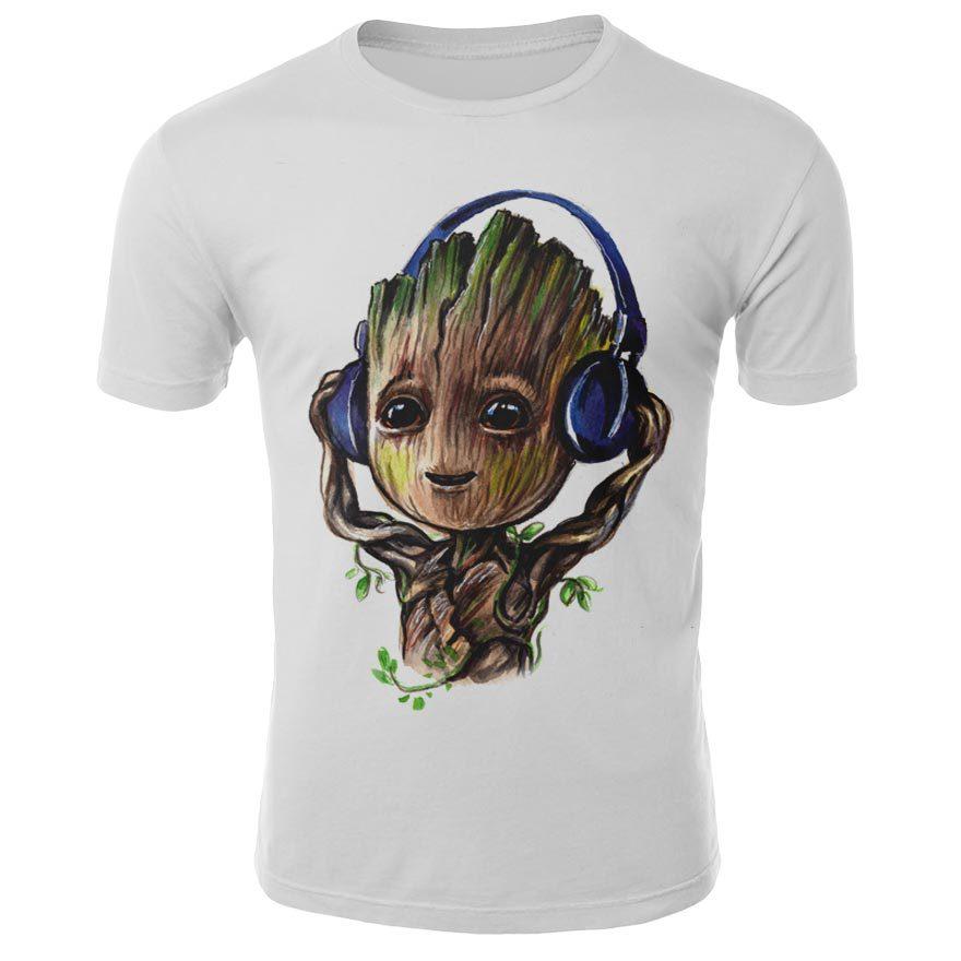 [해외]2019 Comics Super Hero Groot 3D Tshirt Cool Fashion Groot Print T-shirt Men Women 3D Tops Dropshipping and Wholesale cartoon Tee/2019 Comics Super