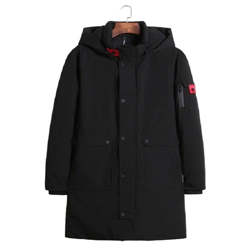 [해외]/2018 autumn and winter new outdoor Windproof Loose black brown coats plus size thicken Thermal solid hooded men`s down jacket