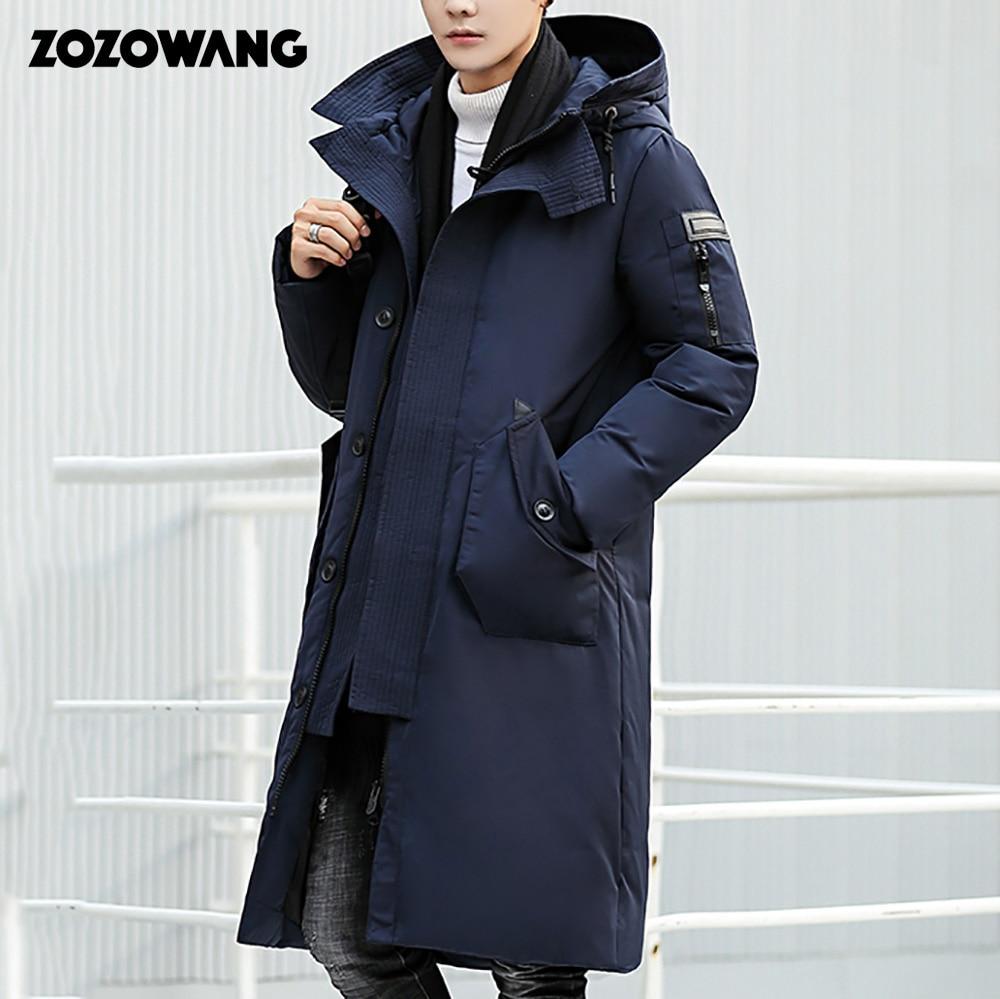 [해외]Zozowang 2019 고품질 겨울 자 켓 남자 두건 된 두꺼운 따뜻한 파 카 코트 캐주얼 망 오버 코트 긴 흰색 오리 자 켓 3xl/Zozowang 2019 고품질 겨울 자 켓 남자 두건 된 두꺼운 따뜻한 파 카 코트 캐주얼 망 오버 코트