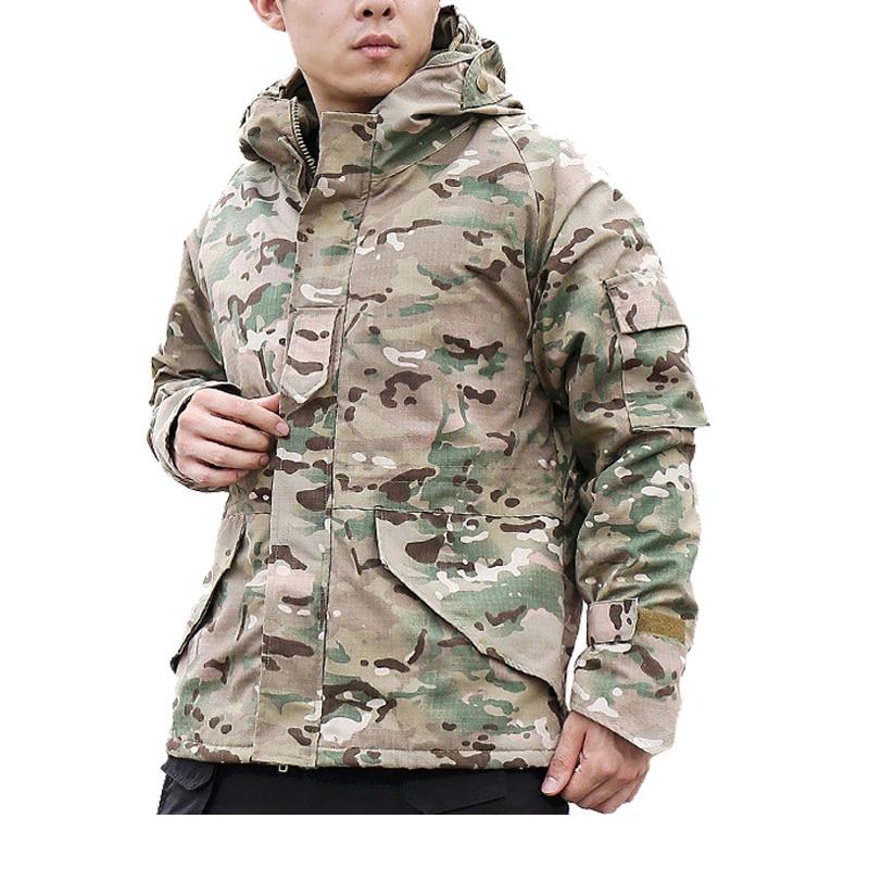 [해외]남자의 겨울 밀리터리 전술 재킷 위장 열 두꺼운 코트 라이너 파카 후드 폭탄 군대 재킷 방수 윈드/Men`s Winter Military Tactical Jacket Camouflage thermal thick Coat liner parka Hooded Bomb