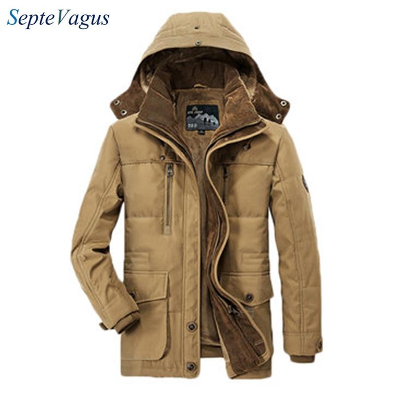 [해외]/Famous Brand Mens Fleece Jacket Thick Winter Coat Hooded  Solid Color Casual Jacket for man;chaquetas de hombre;veste homme 2018