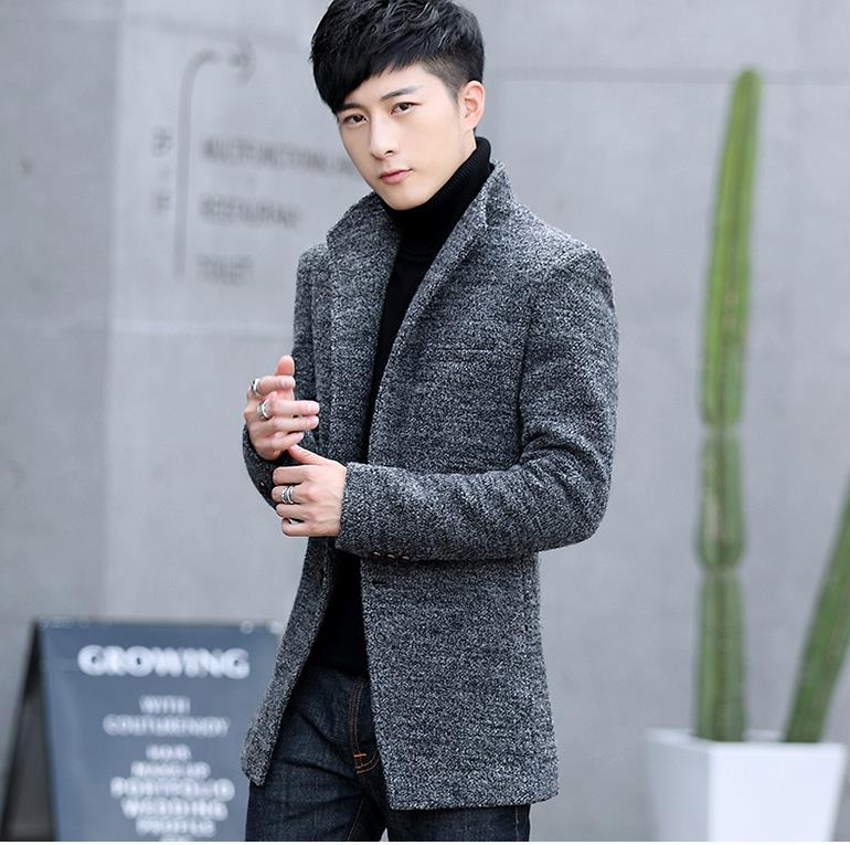 [해외]?2018 새로운 긴 트렌치 코트 남자 방풍 겨울 패션 망 Overcoat 40 % 양모 품질 두꺼운 따뜻한 트렌치 코트 남성 자 켓 AB009/ 2018 New Long Trench Coat Men Windbreak Winter Fashion Mens Over