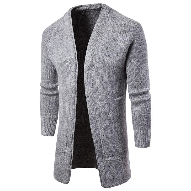 [해외]남성 트렌치 코트 솔리드 컬러 오픈 스티치 캐주얼 니트 빅 포켓 슬림 피트 니스 봄 가을 블랙 그레이 M에서 XXL/New Arrival Men Trench Coat Solid Color Open Stitch Casual Knitted Big Pocket Sli