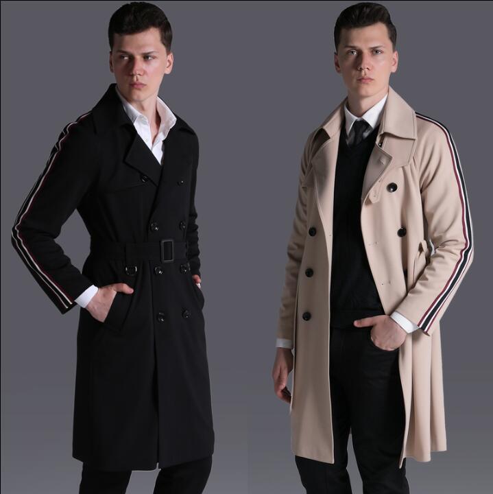 [해외]신사용 디자이너 슬림 섹시한 트렌치 코트 남성 캐주얼웨어 긴팔 남성 긴팔 워크웨어 아우터웨어 2018  masculino/Free shipping 2018 new designer slim sexy trench coat men overcoat long sleeve