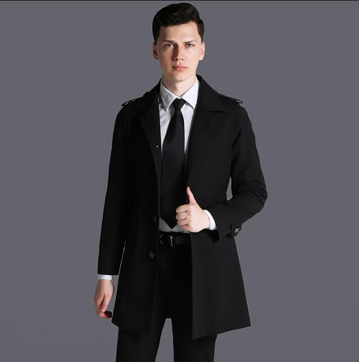 [해외] 2018 년 신작 슬림 섹시한 남성 싱글 트렌치 코트 긴팔 남성 비즈니스 의류 겉옷 오버 코트/Free shipping 2018 new designer slim sexy ingle-breasted trench coat men overcoat long sleev