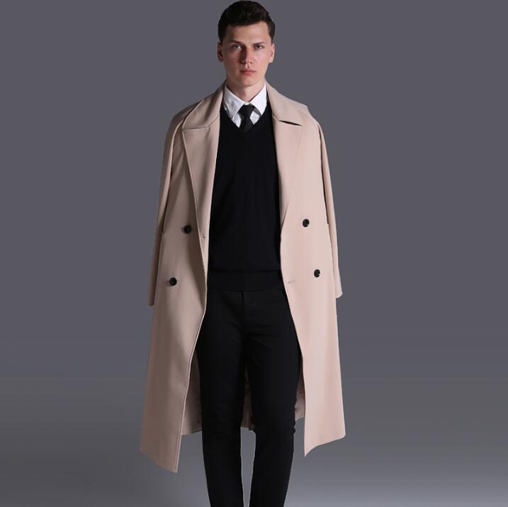 [해외]2018 가을 겨울 신작 무료 슬림 섹시한 긴 트렌치 코트 남성 긴팔 긴팔 남성 비즈니스 의류 겉옷/Free shipping autumn 2018 new designer slim sexy long trench coat men overcoat long sleeve