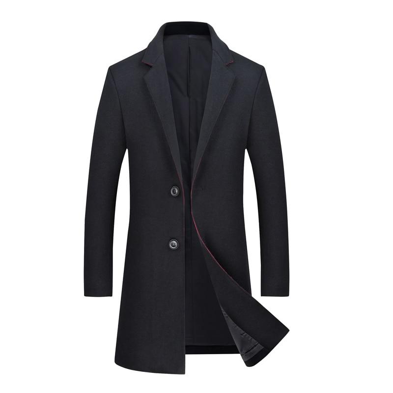 [해외]Mens Autumn&Winter New Stylish  Silm fit Wool Overcoat Brand-clothing Casual Long Wool Trench Coat For Men/Mens Autumn&Winter New Stylish