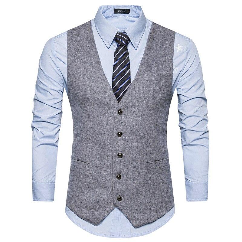 [해외]New Woolen Suit Vest Men 2019 Fashion Single Breasted Wool Vest Waistcoat Mens/New Woolen Suit Vest Men 2019 Fashion Single Breasted Wool Vest Wai