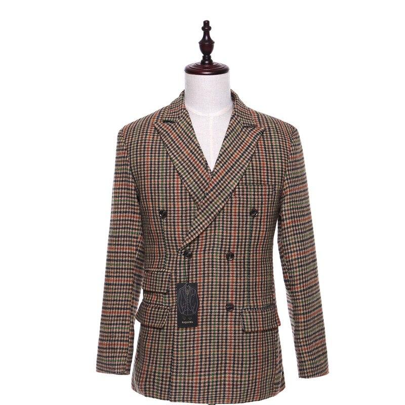 [해외]Men`s suit men`s fashion Slim comfort jacket men`s double-breasted stripe new jacket ball party quality jacket custom/Men`s suit men`s fashion Sli