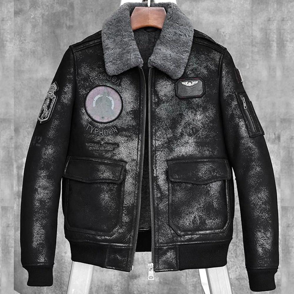 [해외]Mens shearling coat b3 b6 mens 양모 폭탄 재킷 짧은 에비 에이터 모피 코트/Mens shearling coat b3 b6 mens 양모 폭탄 재킷 짧은 에비 에이터 모피 코트