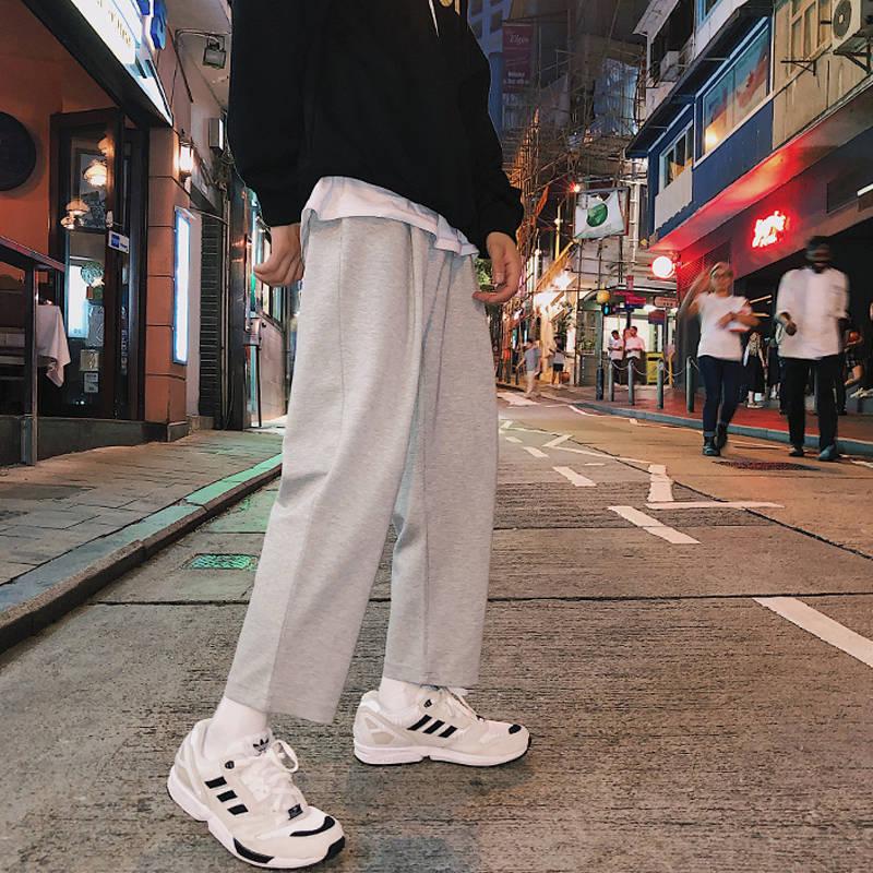 [해외]Men Harajuku Solid Pants 2019 Mens New Korean Fashion Joogers Pants Male Track Pants High Street Casual Spring Summer Trousers/Men Harajuku Solid