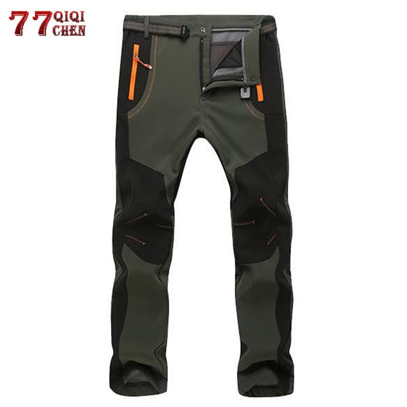[해외]Winter Warm Cargo Stretch Pants Men Women Casual Fleece Snow Pants Waterproof Soft Shell Trousers Male Tactical Work Pants 5XL/Winter Wa