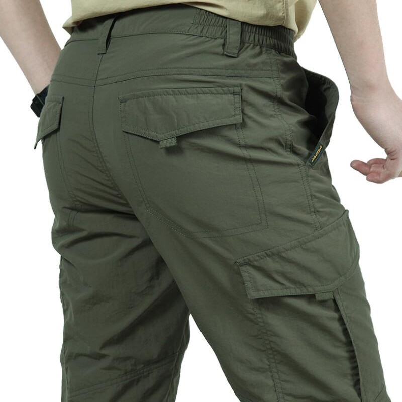 [해외]Cargo Pants Men Quick Drying Lightweight Military Waterproof Long Trousers Mens Outdoor Casual Sports Joggers Track Summer Pants/Cargo P