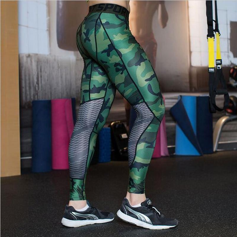 [해외]2019 Rushed Camouflage Men Compression Tights New  Pants Lycra Skinny Leggings  Clothing  Fitness                               /2019 Rushed Camou