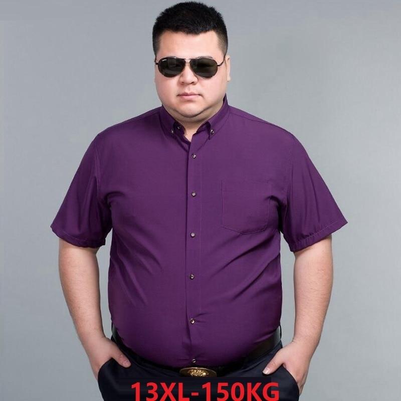 [해외]Men Formal Shirt Long Sleeve Business 7XL 8XL  9XL  Autumn Larger Size Big 10XL 14XL Man White Blue Shirt 48/Men Formal Shirt Long Sleeve Business