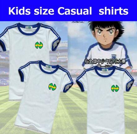[해외]Kid youth size camiseta shirts 올리버 아톰 equipe de japan, 캡틴 츠바사 유니폼, 아톰 축구 코튼 화이트 남성 의류/Kid youth size camiseta shirts 올리버 아톰 equipe de ja