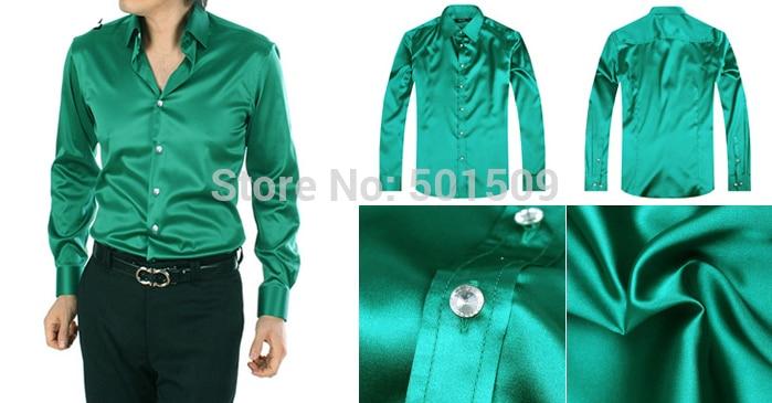 [해외]Free shipping green/purple bright fabric mens tuxedo shirts party/event shirts/Free shipping green/purple bright fabric mens tuxedo shirts party/e