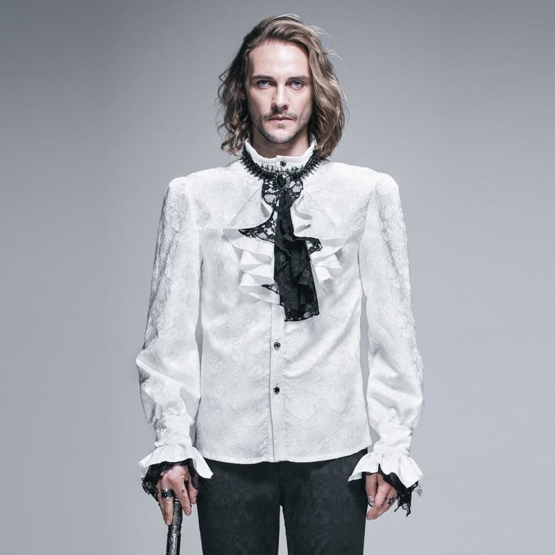 [해외]악마 패션 고딕 빛나는 남자 턱시도 셔츠 펑크 화이트 블라우스 파티 넥타이 셔츠 쥬얼리 긴 소매 셔츠 패턴/악마 패션 고딕 빛나는 남자 턱시도 셔츠 펑크 화이트 블라우스 파티 넥타이 셔츠 쥬얼리 긴 소매 셔츠 패턴