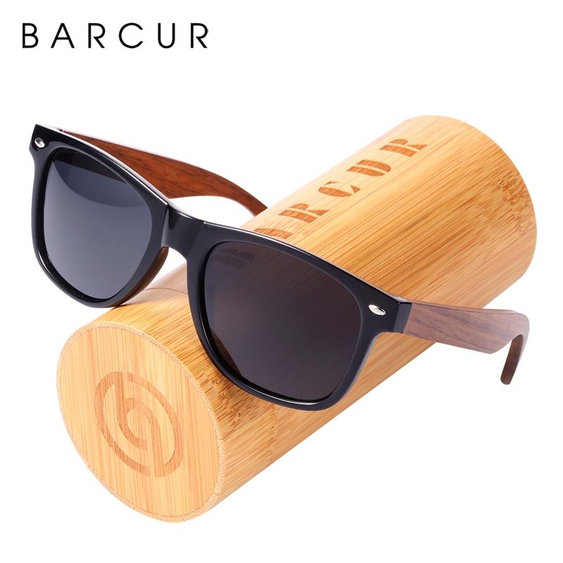 [해외]BARCUR 2018 새로운 편광 선글라스 호두 태양 안경 MenPlastic 프레임 목조 다리 안경 대나무 음영 oculos/BARCUR 2018 New Polarized Sunglasses Walnut Sun glasses MenPlastic Frame Wo