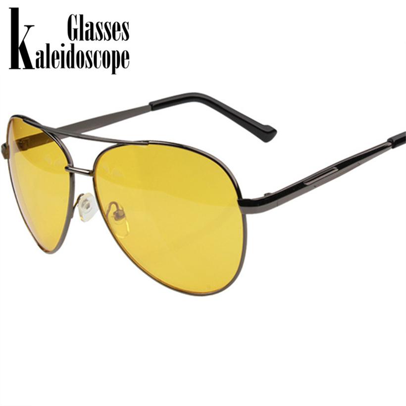 [해외]만화경 용 안경 야간 용 안경 안경 옐로우 렌즈 선글라스 운전 남자 용 눈부심 방지용 운전자 안전 안경/Kaleidoscope Glasses Night Vision Glasses Men Driving Yellow Lens Sunglasses Anti Glare