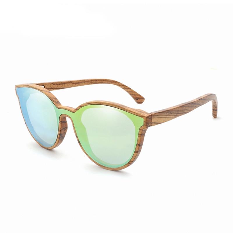 [해외]2018 새 제품 고양이 눈 나무 선글라스 여자 / 남자 라운드 대나무 태양 안경 얼룩말 나무 프레임/2018New Product Cat Eye Wood Sunglasses Women/Men Round Bamboo Sun Glasses Zebra Wooden F