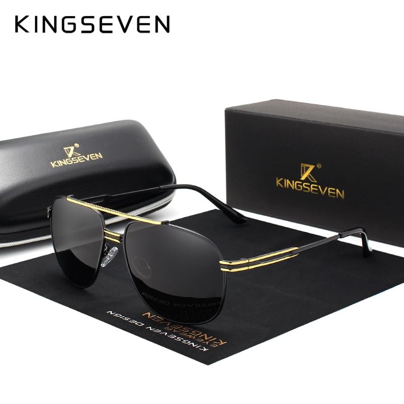 [해외]KINGSEVEN 브랜드 클래식 편광 선글라스 남자 운전 합금 프레임 선글라스 남성 고글 UV400 Gafas/KINGSEVEN Brand Classic Polarized Sunglasses Men Driving Alloy Frame Sun Glasses Mal