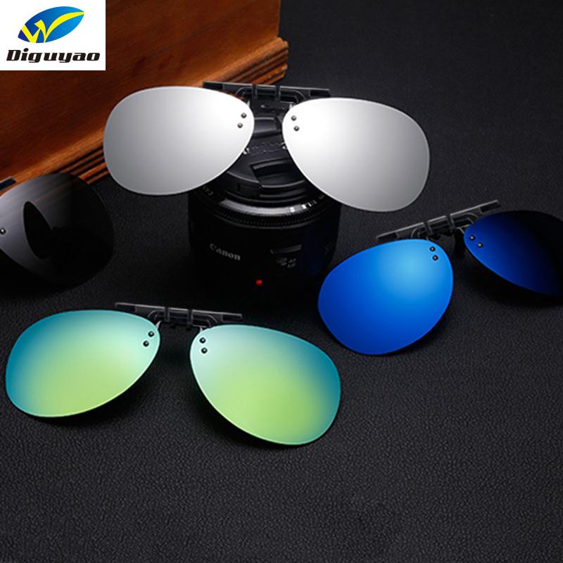 [해외]DIGUYAO 파일럿 선글라스에 편광 된 클립 여성 남성 무테 안경 처방 안경에 대 한 듀얼 적합 오버플로 Oculos/DIGUYAO Pilot Polarized Clip On Sunglasses Women Men Rimless Frame For Prescrip