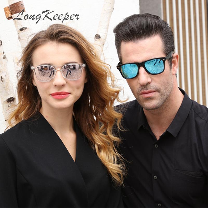 [해외]/LongKeeper Polarized sunglasses Women Square Vintage Sun Glasses Men Brand Designer Mirror Sunglasses retro UV400 Gafas de sol