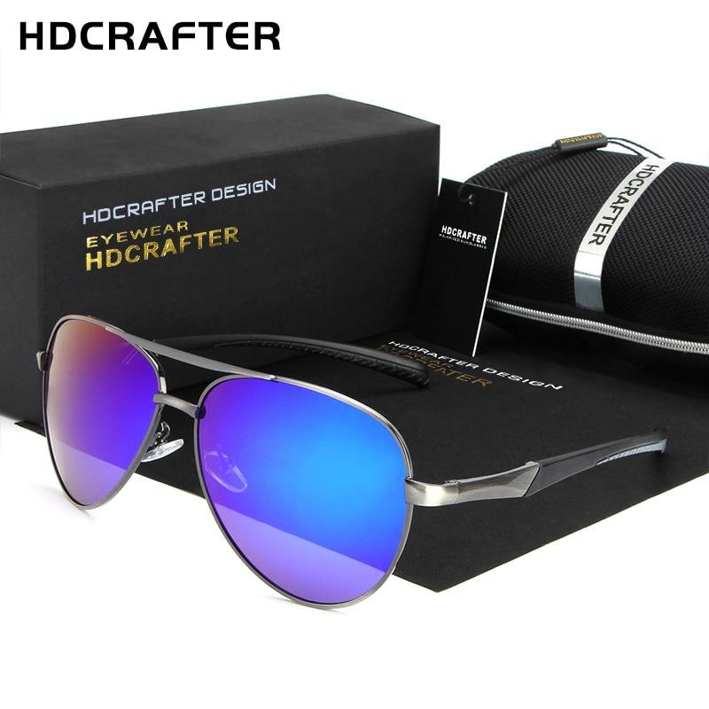 [해외]HDCRAFTER Polarized Lens Mens Sunglasses Mirror Coating Brand Design Sun Glasses Goggle Eyewear Accessories For Men Female/HDCRAFTER Polarized Len