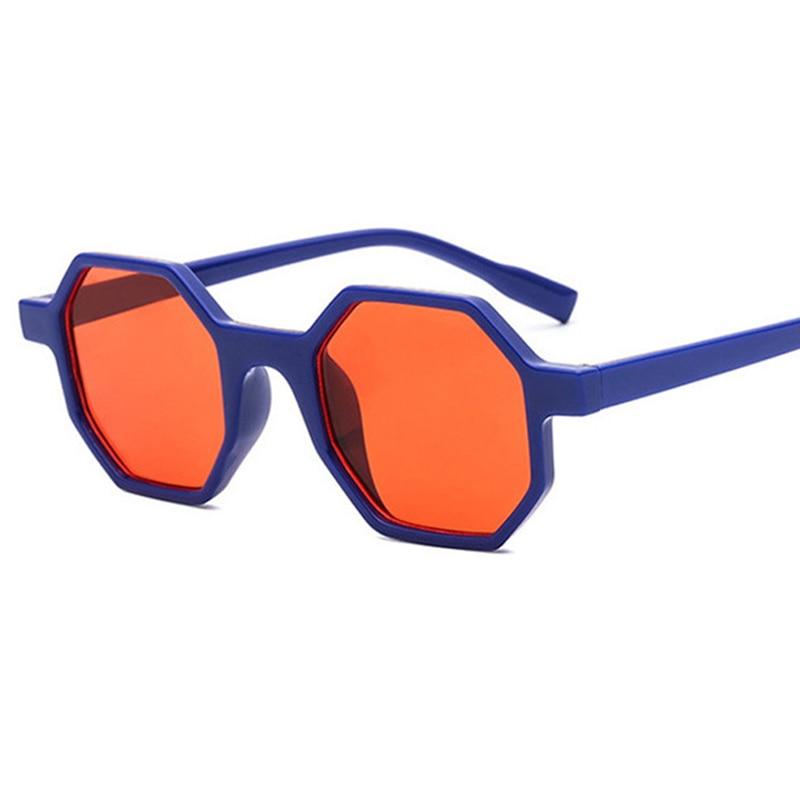 [해외]2019 New Classic Retro Reflective Sunglasses Women Hexagon Sunglasses PC Frame Eyewear Sun Glasses Sea color Oculos De Sol gafas/2019 New Classic