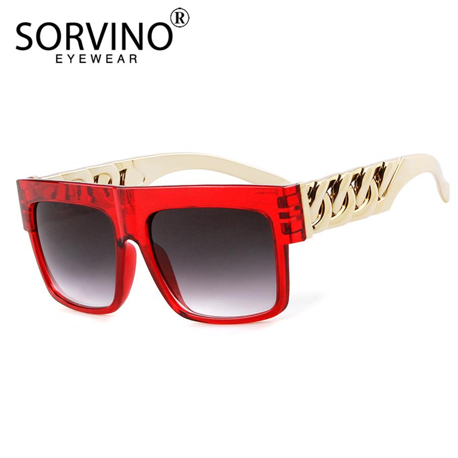 [해외]SORVINO Retro Oversized Square Sunglasses Men Women 2018 90s Designer Brand Big Mirror Flat Top Sun Glasses Shades Oculos SP156/SORVINO Retro Over