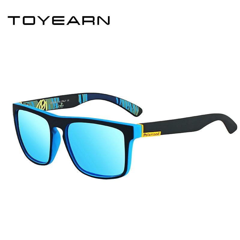[해외]TOYEARN 2019 Luxury Brand Designer Men`s Square Polarized Sunglasses Men Vintage Driving Coating Mirror Sun Glasses For Male/TOYEARN 2019 Luxury B