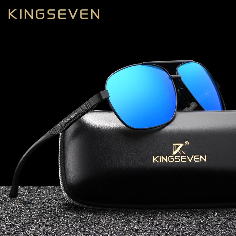 [해외]KINGSEVEN Brand Design Polarized Aluminum Sunglasses Male Driving Blue Mirror Sun glasses for Men Goggles Eyewear Gafas De Sol/KINGSEVEN Brand Des