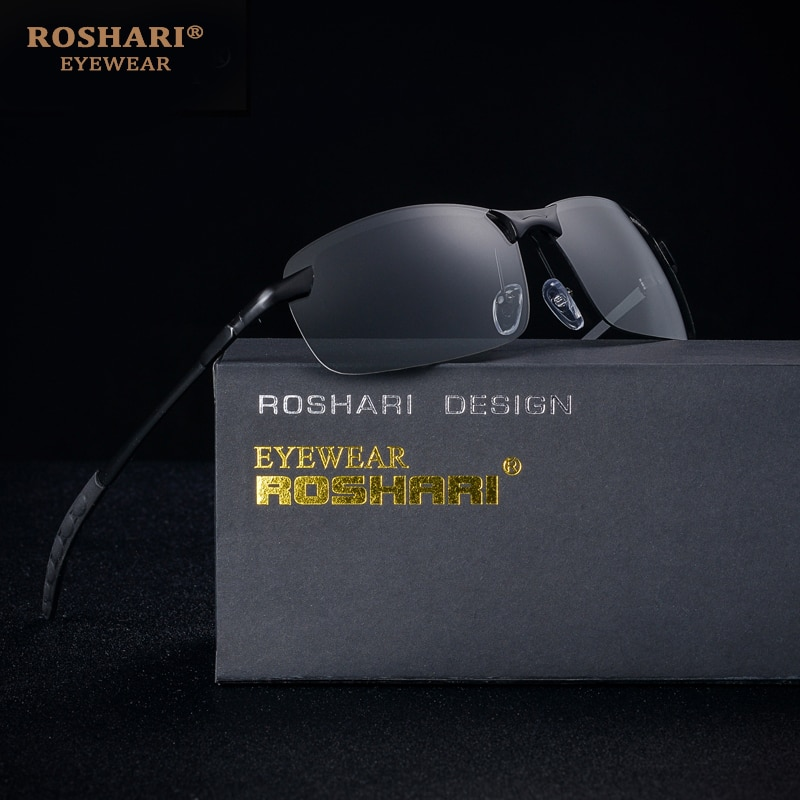 [해외]RoShari Chameleon Sunglasses men photochromic All-weather Discoloration Professional driving Sun glasses men lunette de soleil/RoShari Chameleon S