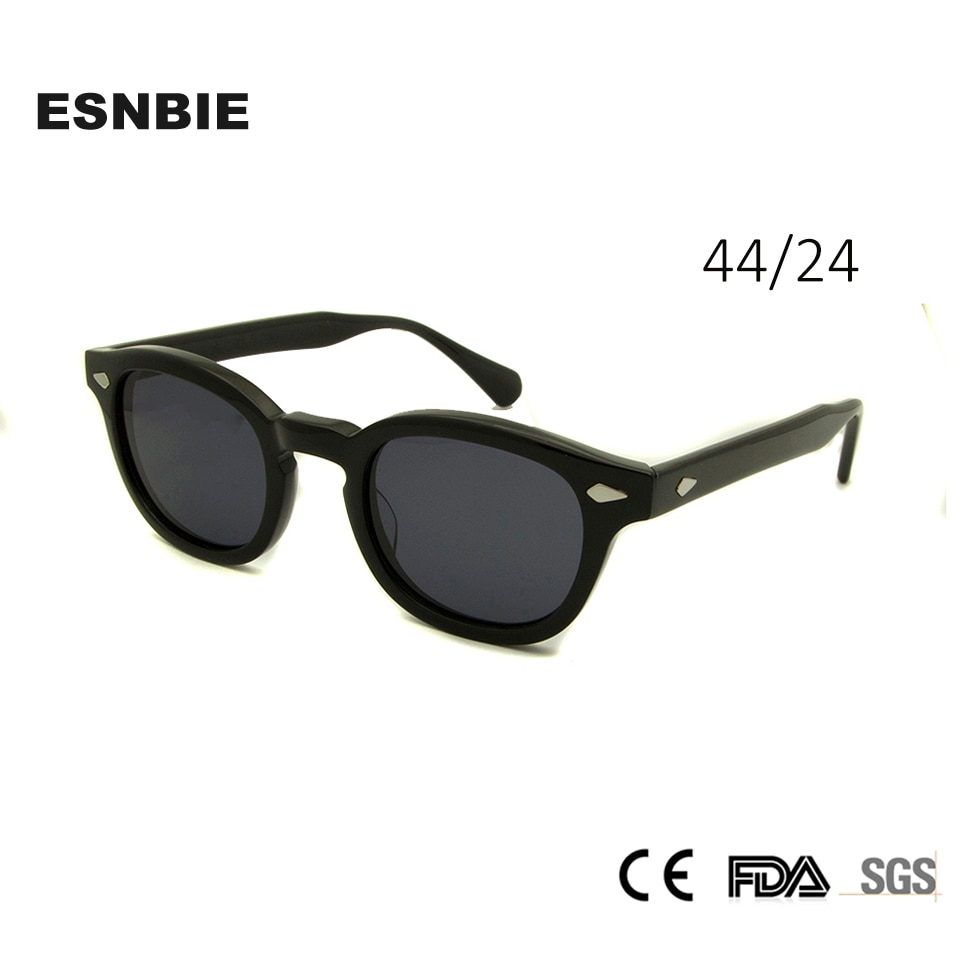 [해외] Acetate Glasses Sunglasses Men Round Small Retro Rivet Sunglasses Women Sun Glasses Uv400 Occhiali Da Sole Donna/ Acetate Glasses Sunglasses Men