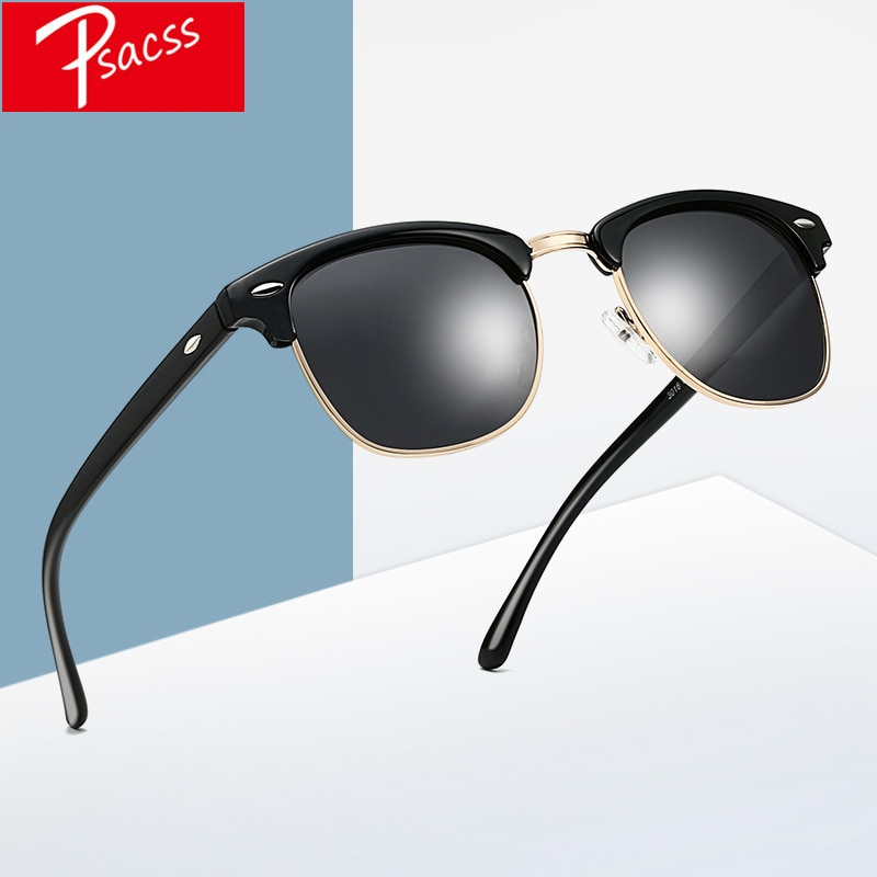 [해외]Psacss Classic Square Polarized Sunglasses Men Women Vintage  Brand Designer Men`s Women`s Retro Sun Glasses UV400/Psacss Classic Square Polarized