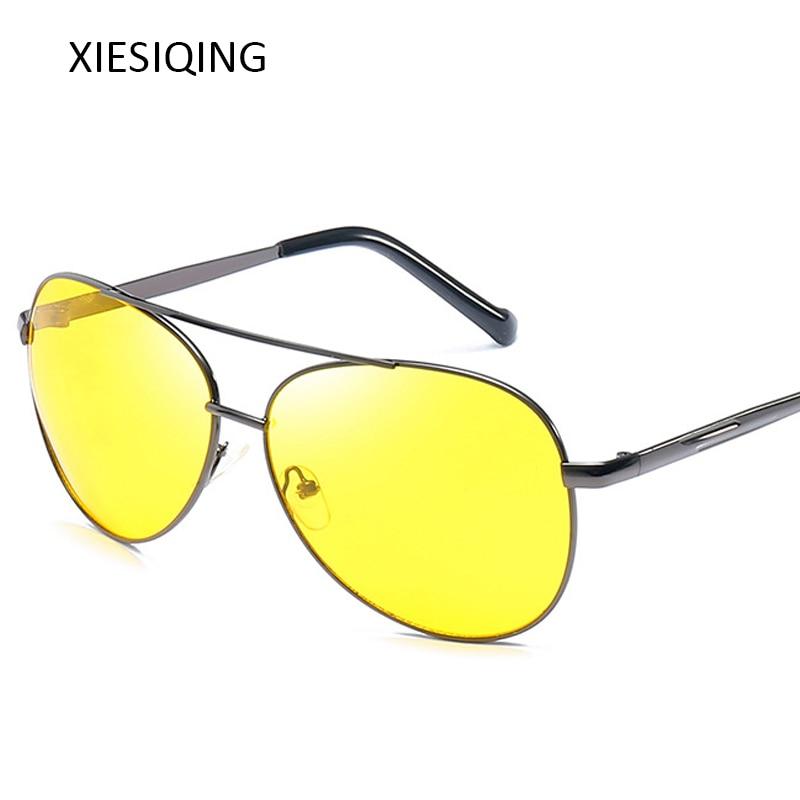 [해외]2019 새로운 노란색 선글라스 남자 여자 나이트 비전 고글 운전 안경 드라이버 항공 야간 썬 안경 uv400/2019 새로운 노란색 선글라스 남자 여자 나이트 비전 고글 운전 안경 드라이버 항공 야간 썬 안경 uv400