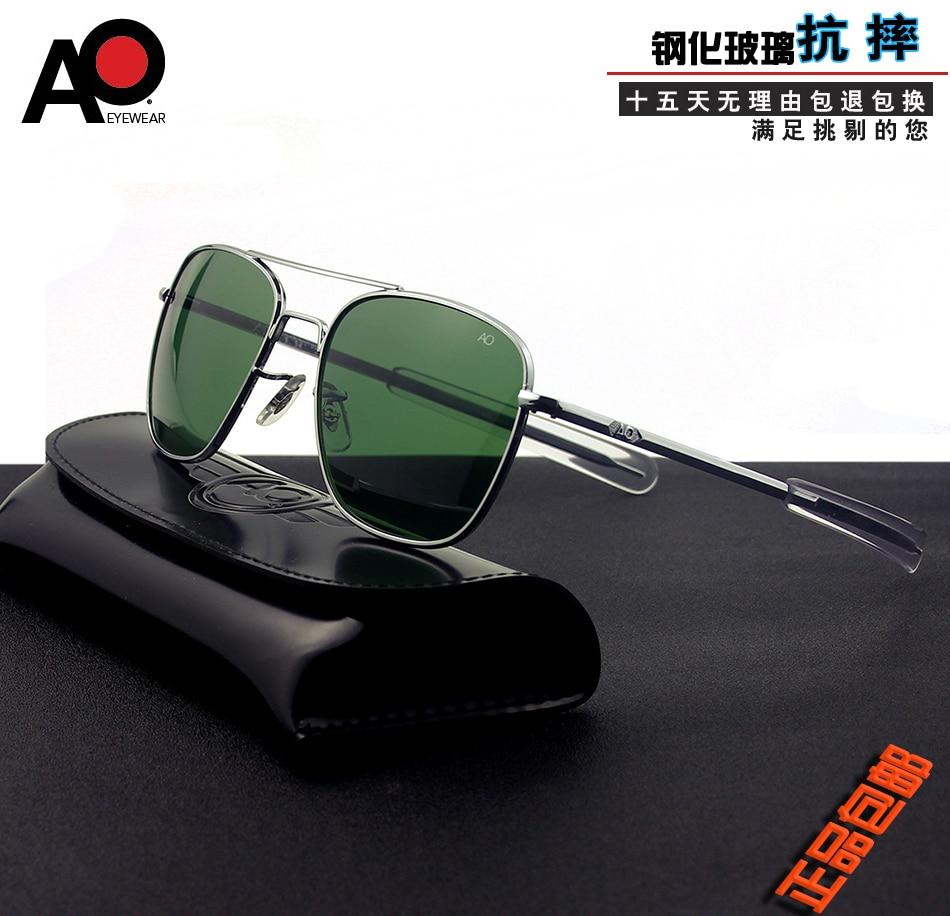 [해외]Ao 8052 선글라스 남자 2019 파일럿 운전 안경 american army military 0ptical aviation sun glasses 직사각형 oculos masculino/Ao 8052 선글라스 남자 2019 파일럿 운전 안경