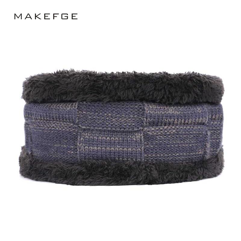 [해외]겨울 새로운 남성 니트 플러스 벨벳 두꺼운 잡색의 모자 패치 gorras 패션 남성 모자 unibib 투피스 마스크 비니 skullies/Winter new men`s knit plus velvet thick variegated hats patch gorras