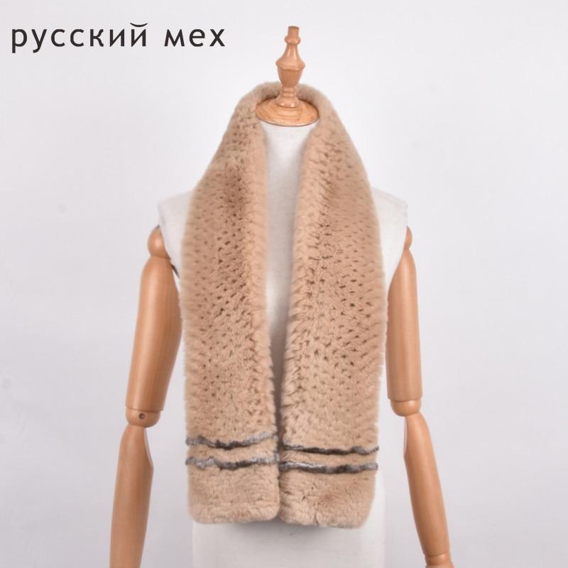 [해외]/long 120 cm real fur scarf women Men Rex rabbit fur scarf Natural Rabbit Fur Scarves  warm fur muffler