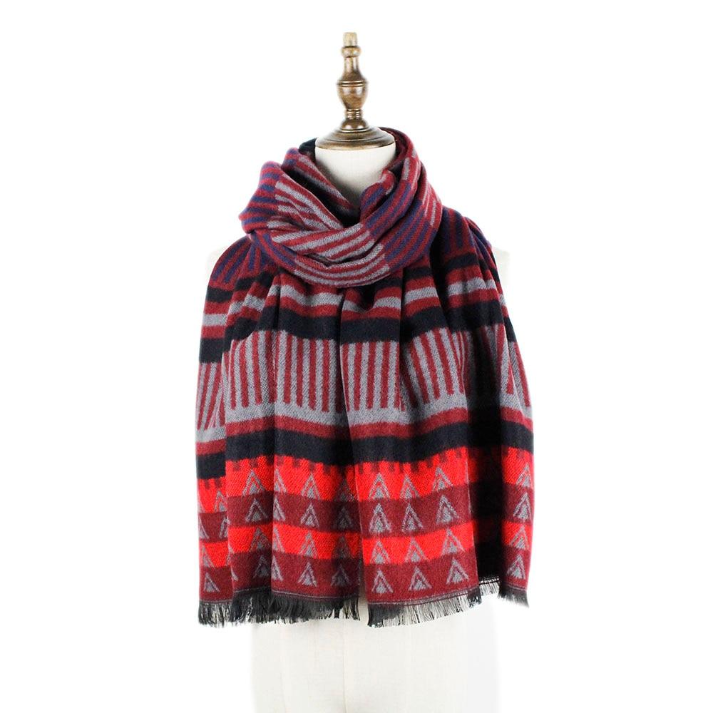 [해외]men scarf winter acrylic wool fashion geometric long scarves shawl mens scarf classical soft material long shawls stole gifts/men scarf winter acr