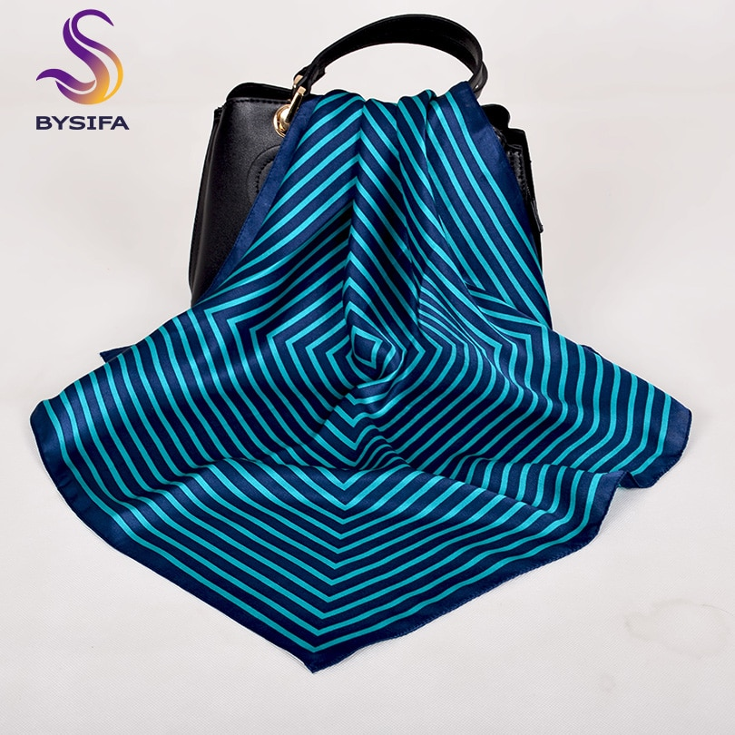 [해외][BYSIFA] Plaid Silk Scarf Lenco 2019 New Brand Men Women Head Scarf Spring Autumn Foulard Femme Neck Scarves Blue Black Pink Red/[BYSIFA] Plaid Si