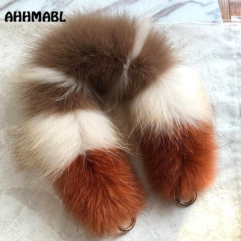 [해외]55cm 교체 가방  스트랩 레이디 폭스 모피 핸드백은 여성을핸드백을해야한다 지갑 벨트 매력 겨울 액세서리 R25/55cm Replacement Bag Strap Genuine Real Fox Fur Handbag Should Straps Handle For W