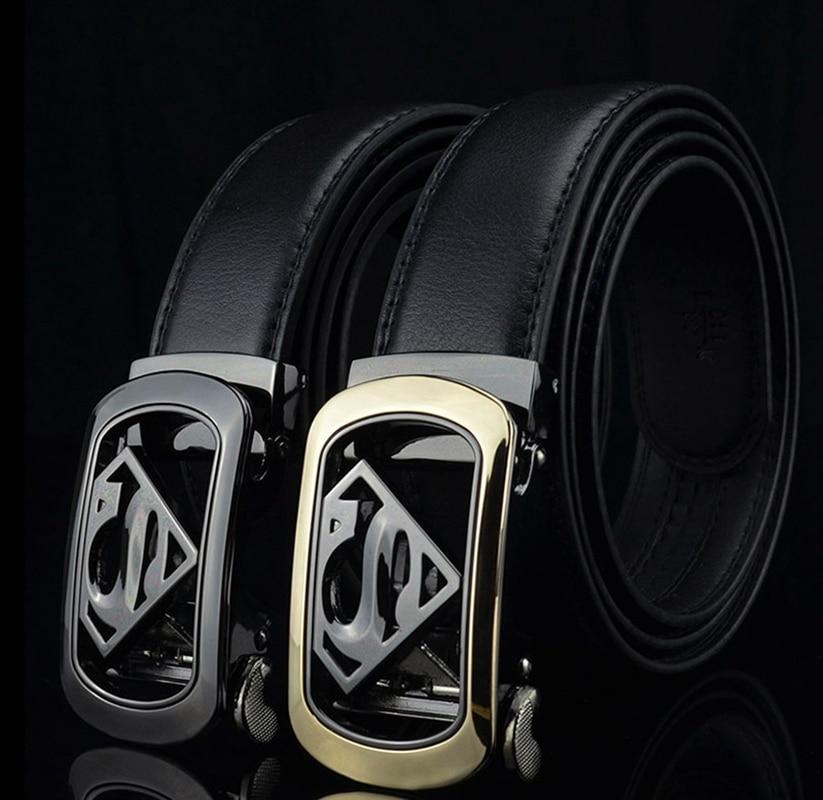 [해외]KAWEIDA 새로운 디자이너 슈퍼맨 자동 버클 벨트 Cowskin  가죽 벨트 남성용 금속 벨트 비즈니스 남성 ceinture/KAWEIDA new designer Superman Automatic Buckle Belt Cowskin genuine leathe