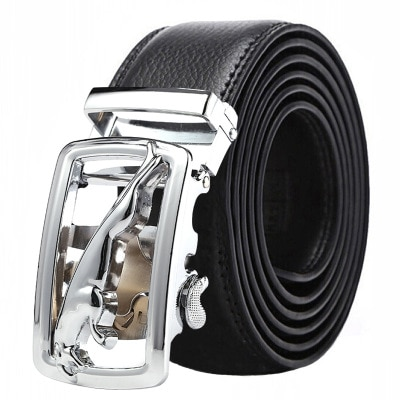 [해외]2019 Famous Brand balck Belt Men  Hot sale Metal Automatic Buckle Strap Male brown Top Quality Genuine Luxury Leather Belts Men/2019 Famous Brand