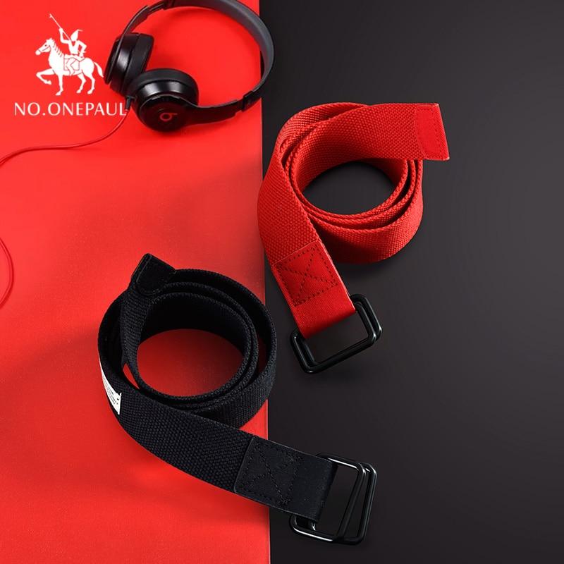 [해외]NO.ONEPAUL Fashion Multicolor Canvas Belt for Alloy Agio Buckle Harajuku Solid Color Long Belts Women Casual Female Waist Belts /NO.ONEPAUL Fashio