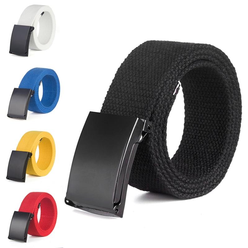 [해외]Leisure Trendy UniBelt Fashion Solid Color Jeans Plain Canvas Belt Waistband Military Web Belts Metal Double Roller Buckle/Leisure Trendy UniBelt