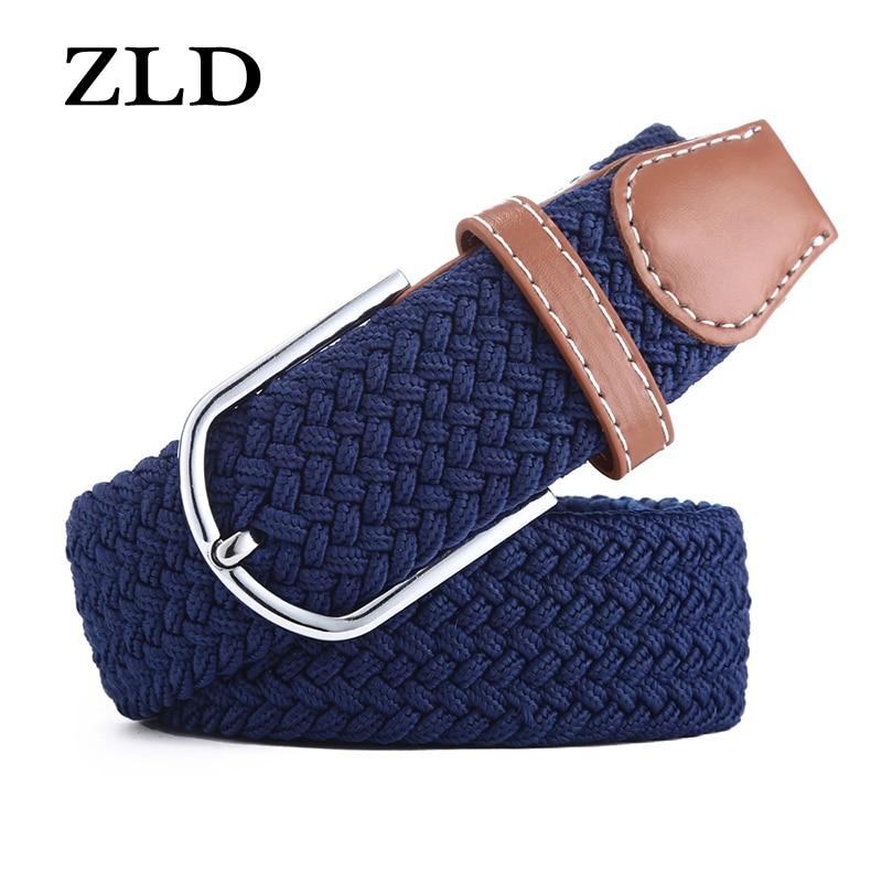[해외]ZLD  Casual stretch woven belt Women`s uniCanvas elastic belts for women jeans  Modeling pin buckle belt 120-130CM/ZLD  Casual stretch woven belt
